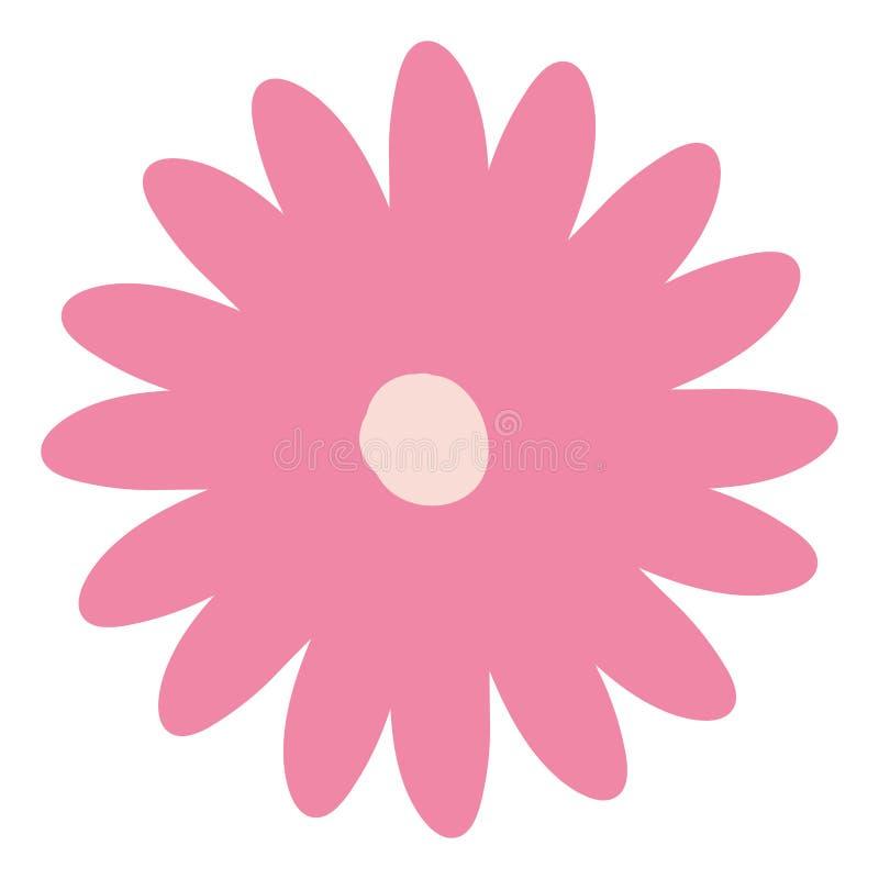 Fleur De Marguerite De Couleur De Rose De Dessin De Main