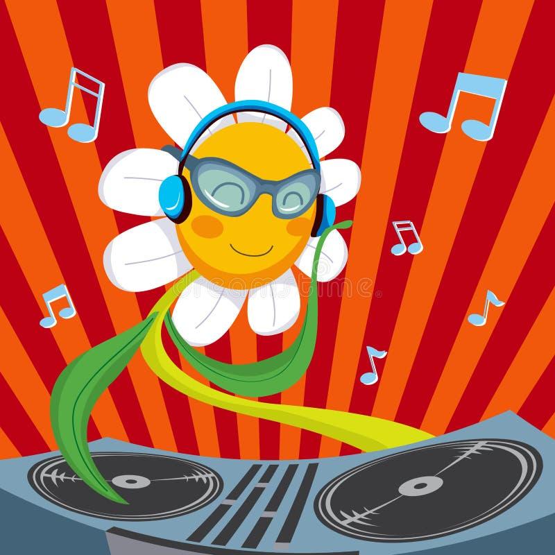 Fleur de marguerite du DJ illustration de vecteur