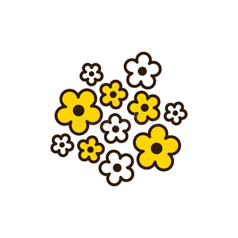 Fleur de miel d'été avec des boucles Élément floral illustration libre de droits