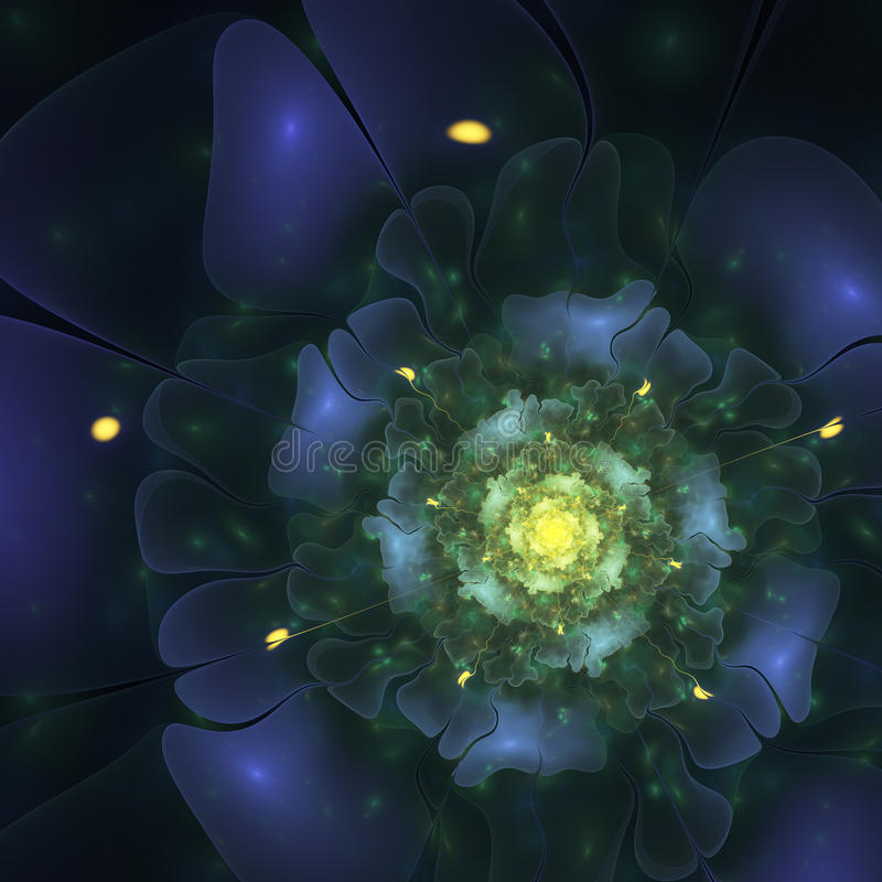 Fleur de minuit foncée illustration stock