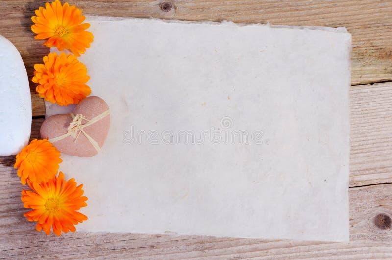 Fleur de papier de coeur image libre de droits
