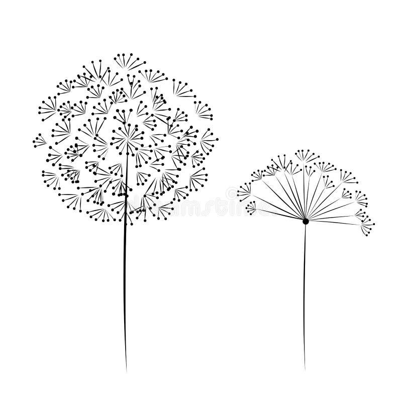 Fleur de pissenlit pour votre conception illustration libre de droits