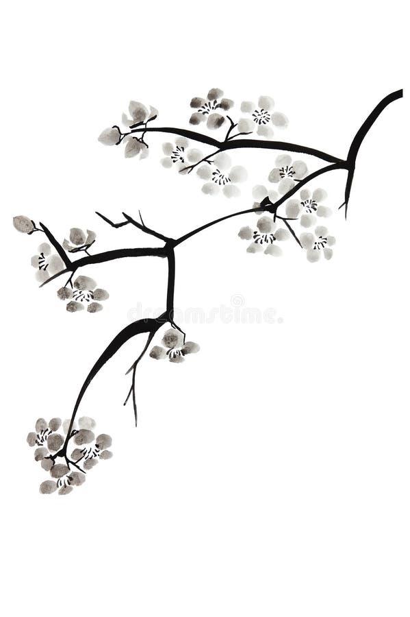 Fleur de prune illustration libre de droits