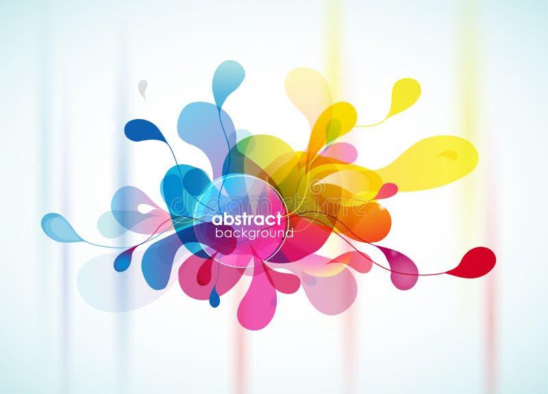 Fleur de rappel de fond coloré abstrait. illustration de vecteur