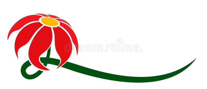 Fleur de rouge de logo illustration libre de droits