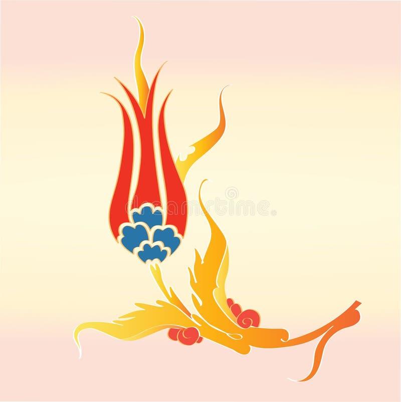 Fleur de tulipe de tabouret illustration libre de droits
