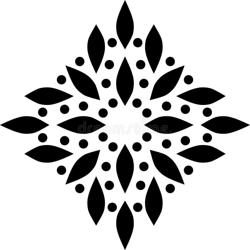 Fleur de vintage et sabot centraux de fond illustration stock
