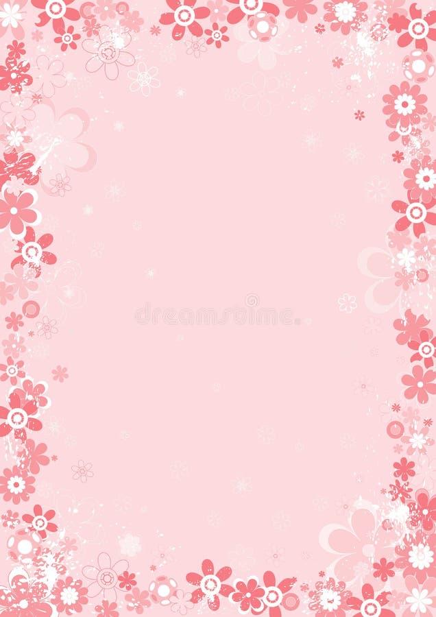 Fleur de whith de fond, vecteur illustration stock