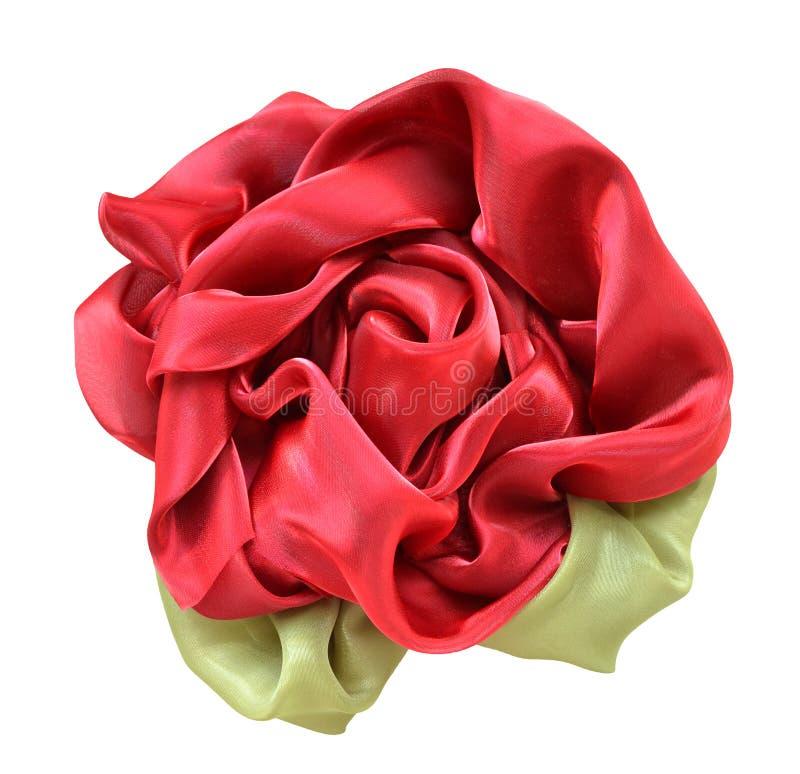Fleur effectuée à partir du tissu image libre de droits