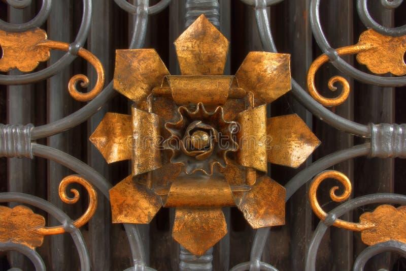 Fleur en bronze images libres de droits
