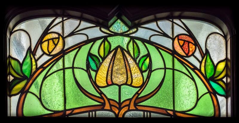 Fleur en verre souillé photo libre de droits