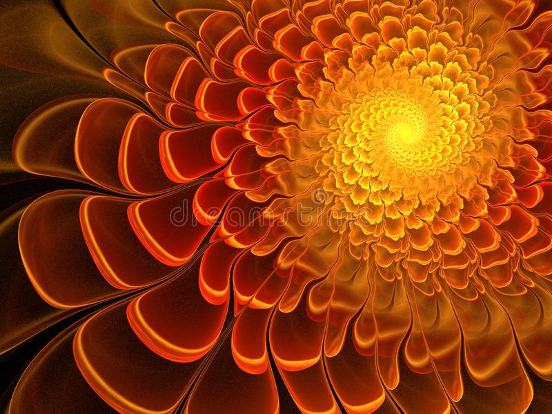 Fleur ensoleillée de fractale illustration de vecteur