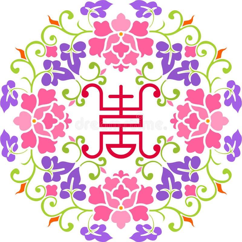 Fleur et bonheur illustration stock