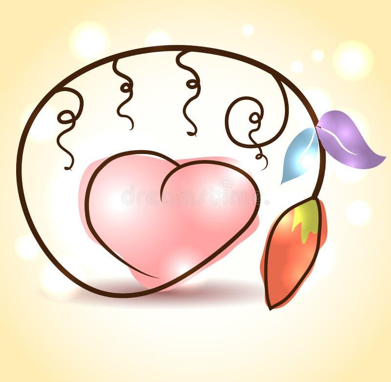 Fleur et coeur illustration stock