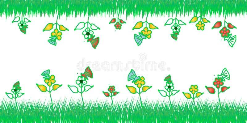 Fleur et conception de vert image stock
