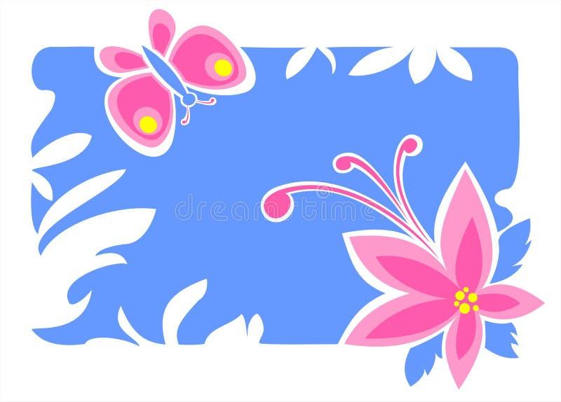 Fleur et guindineau illustration de vecteur