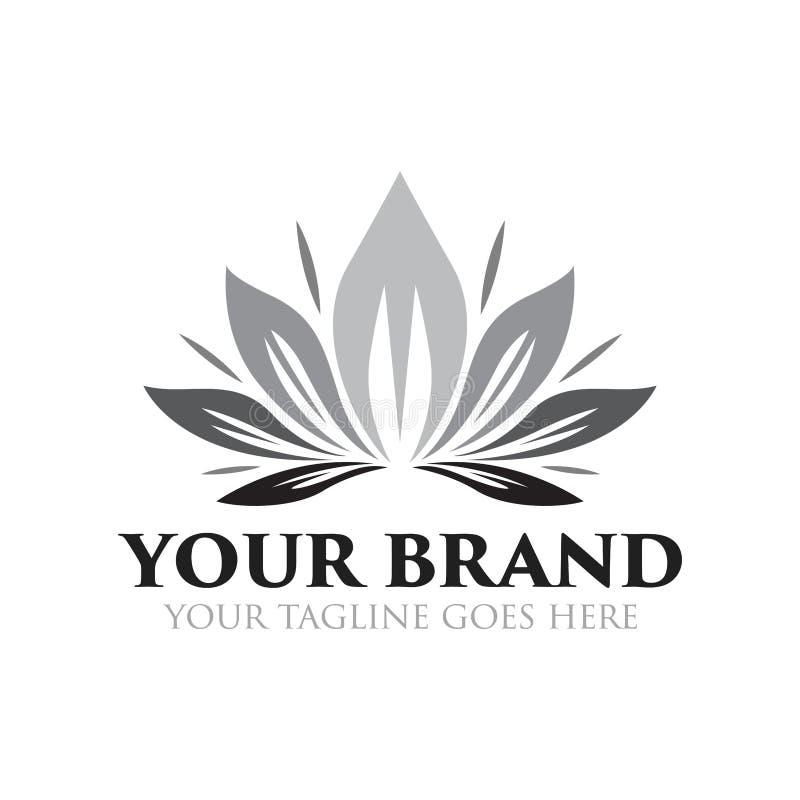 Fleur et logo de beauté - vecteur illustration stock