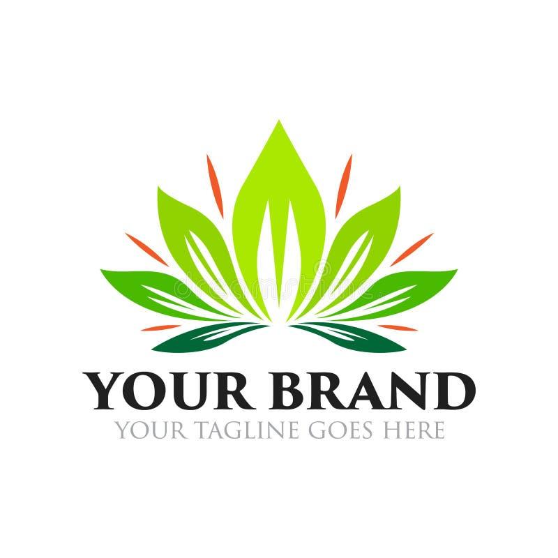 Fleur et logo de beauté - vecteur illustration de vecteur