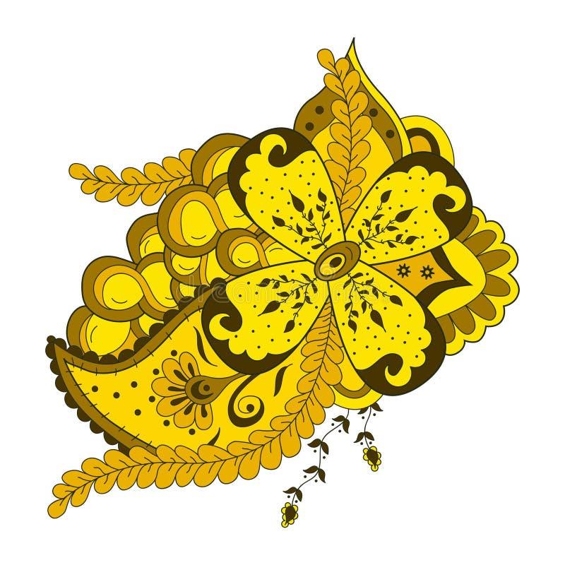 Fleur et ornement abstraits de Paisley illustration libre de droits