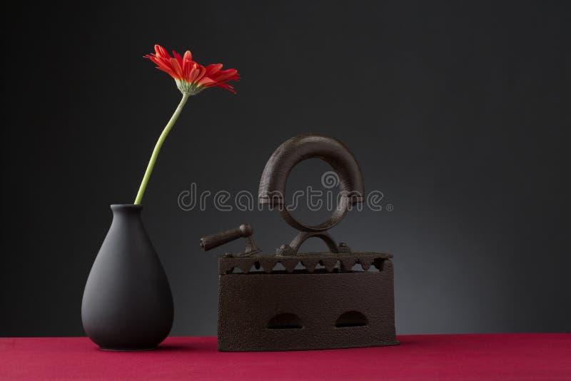 fleur et vieux fer photo libre de droits