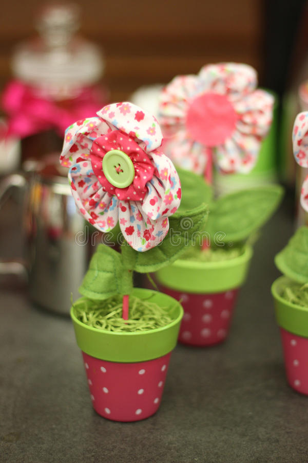 Fleur faite main d'Eco photos stock