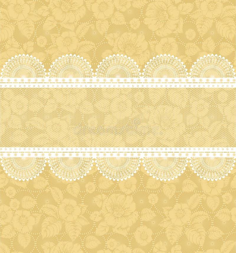 Fleur-fond avec le lacet illustration de vecteur