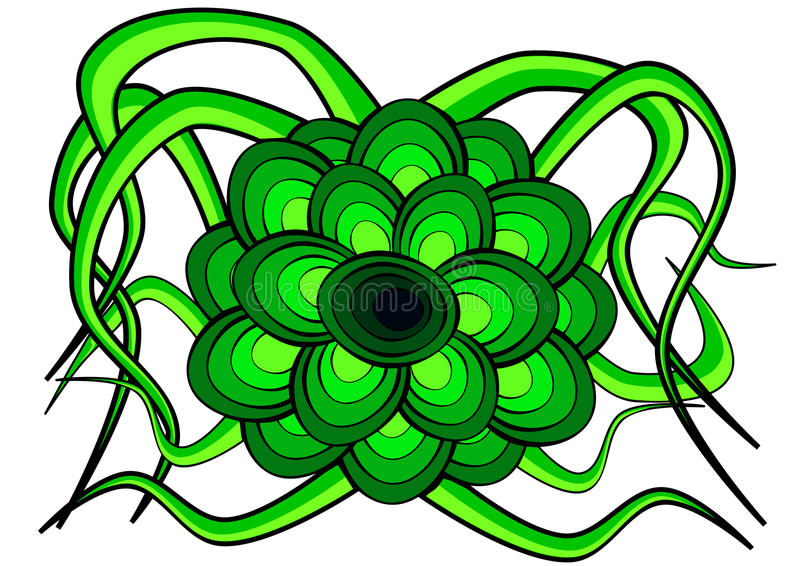 Download Fleur formée en vert illustration de vecteur. Illustration du blanc - 76079306