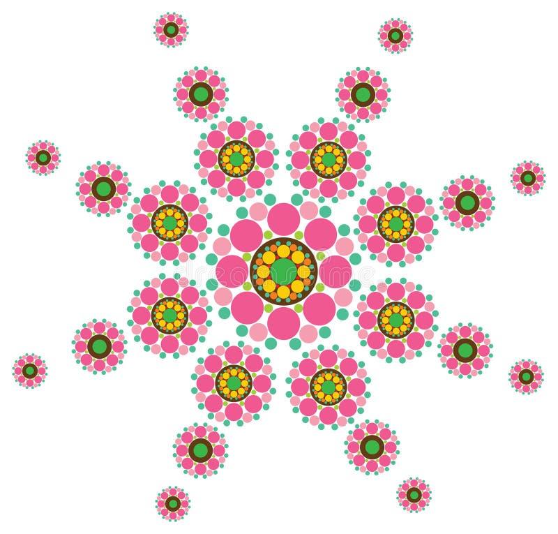Fleur fuchsia de neige illustration stock