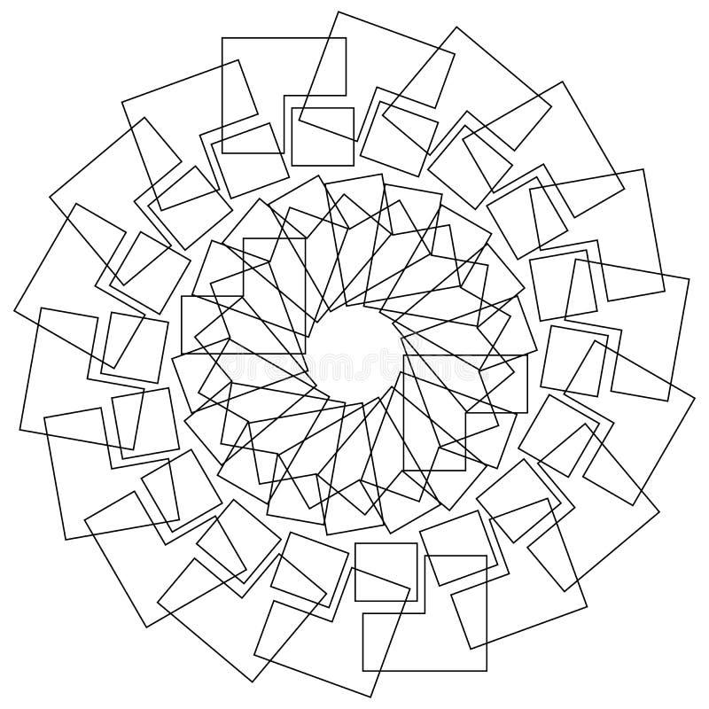 Fleur g om trique fleur de lotus circulaire de mod le - Modele de mandala ...