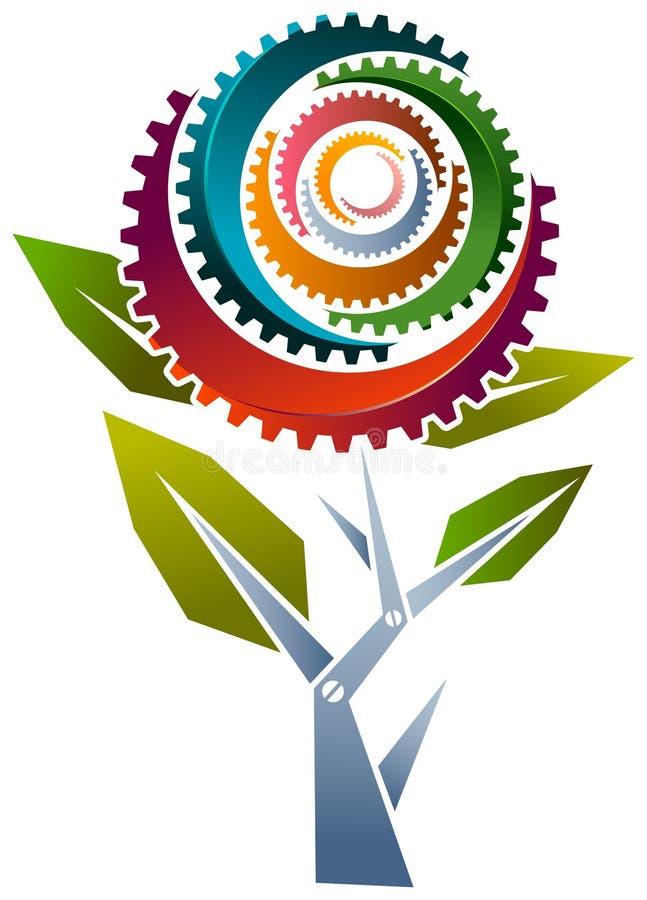 Fleur industrielle illustration libre de droits