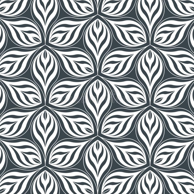 Fleur linéaire abstraite de pétale Configuration de vecteur illustration de vecteur