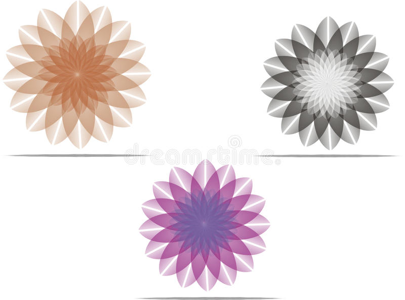 Fleur Logo Set 2 images stock