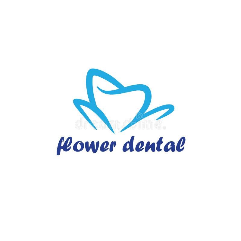 Fleur Logo Template dentaire illustration libre de droits