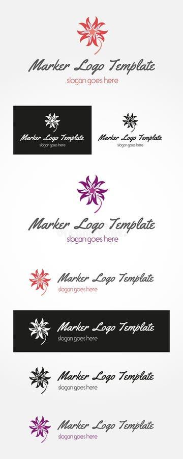 Fleur Mark Logo Design illustration stock