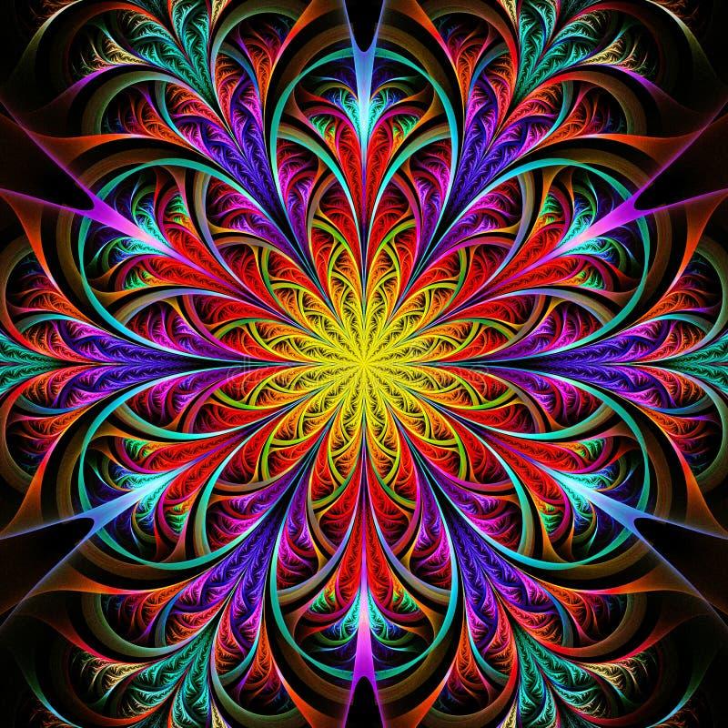 Fleur Multicolore D'isolement Illustration Stock ...