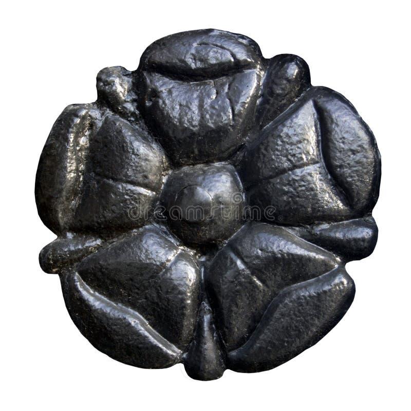 Fleur noire en métal images stock