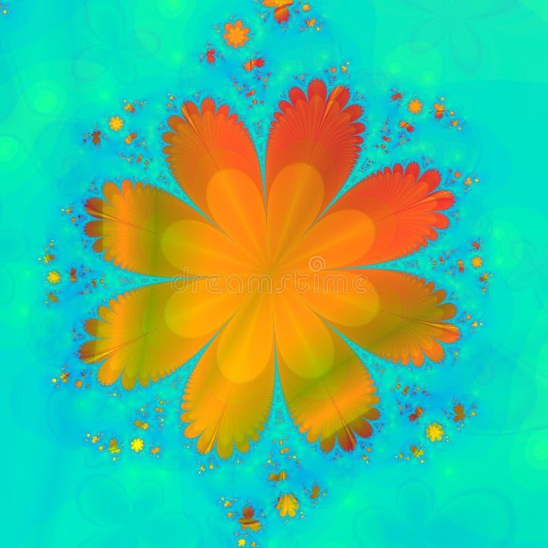 Fleur orange illustration stock