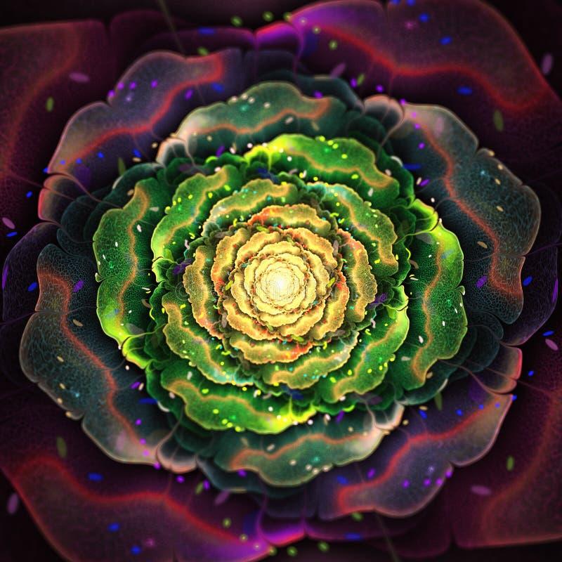 Fleur organique de fractale illustration libre de droits