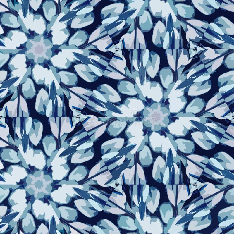 Fleur ou papillon en verre souill? Tulipes abstraites de kaléidoscope pour le design de carte Concept romantique illustration stock