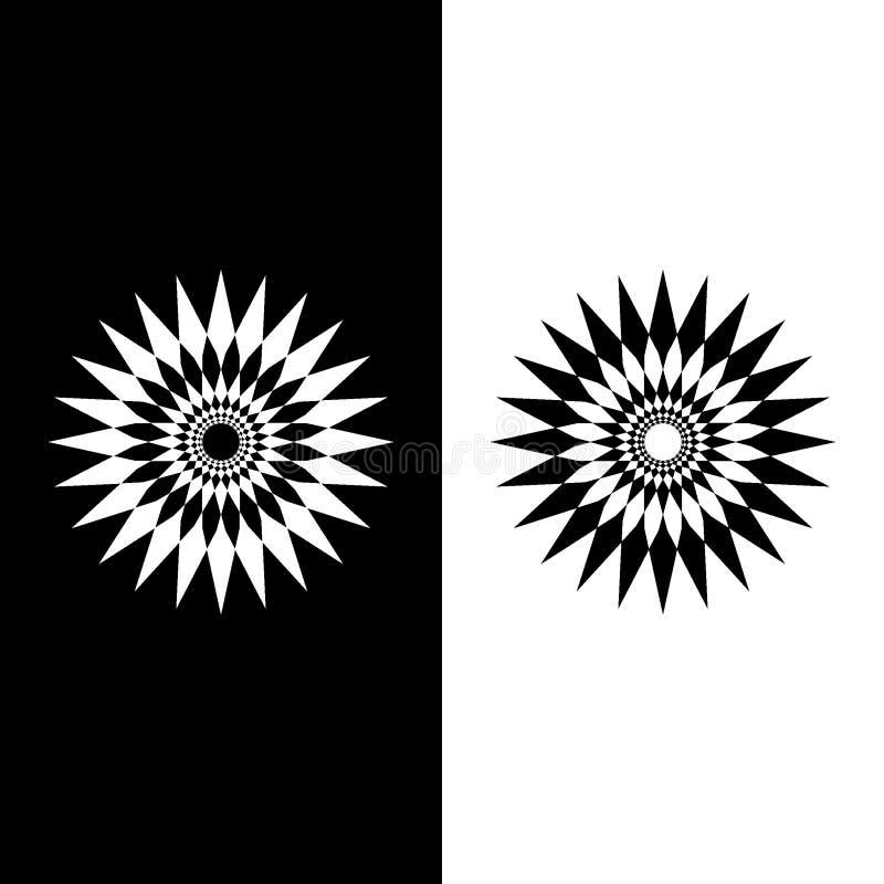Fleur ou soleil des formes image stock