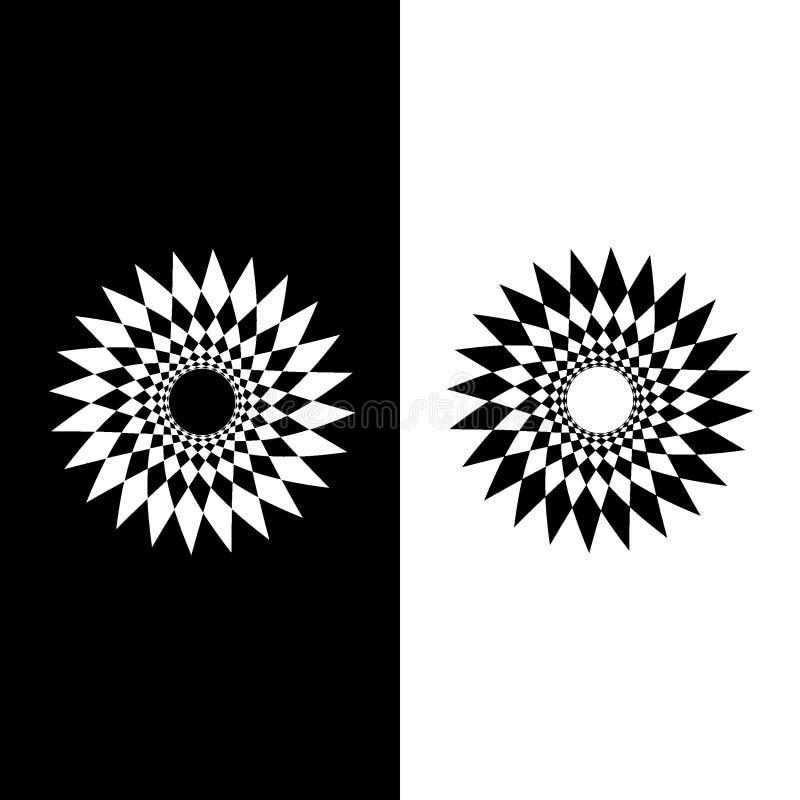 Fleur ou soleil des formes images stock