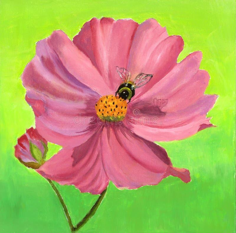 Fleur peinte illustration libre de droits