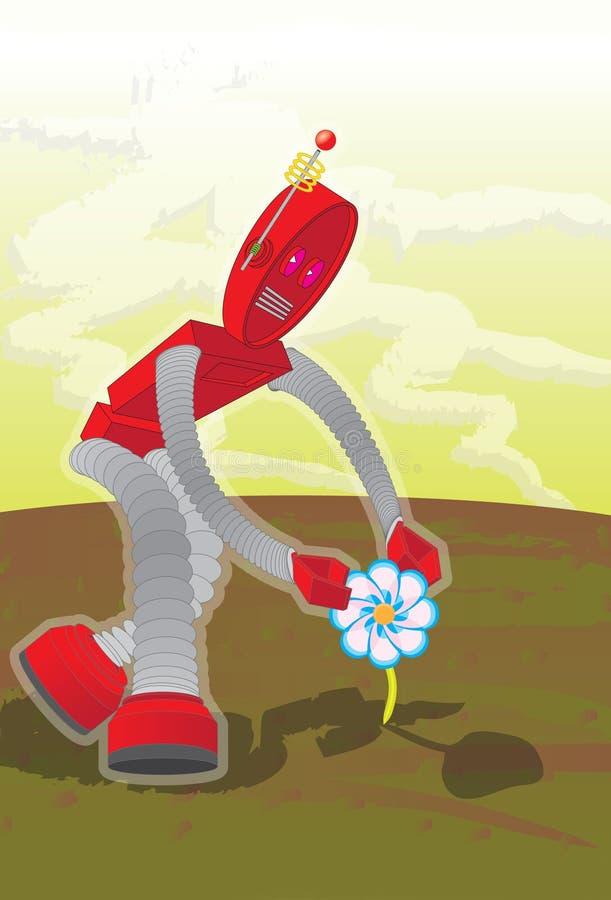 Fleur-robot photos libres de droits
