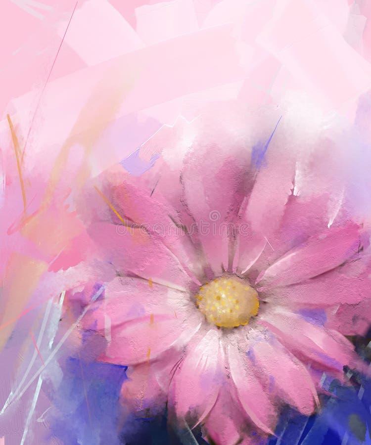 Fleur rose illustration de vecteur