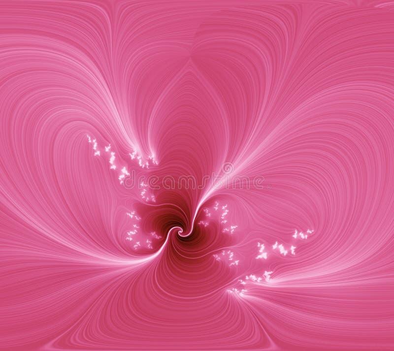 Fleur rose d'abstraction. illustration de vecteur