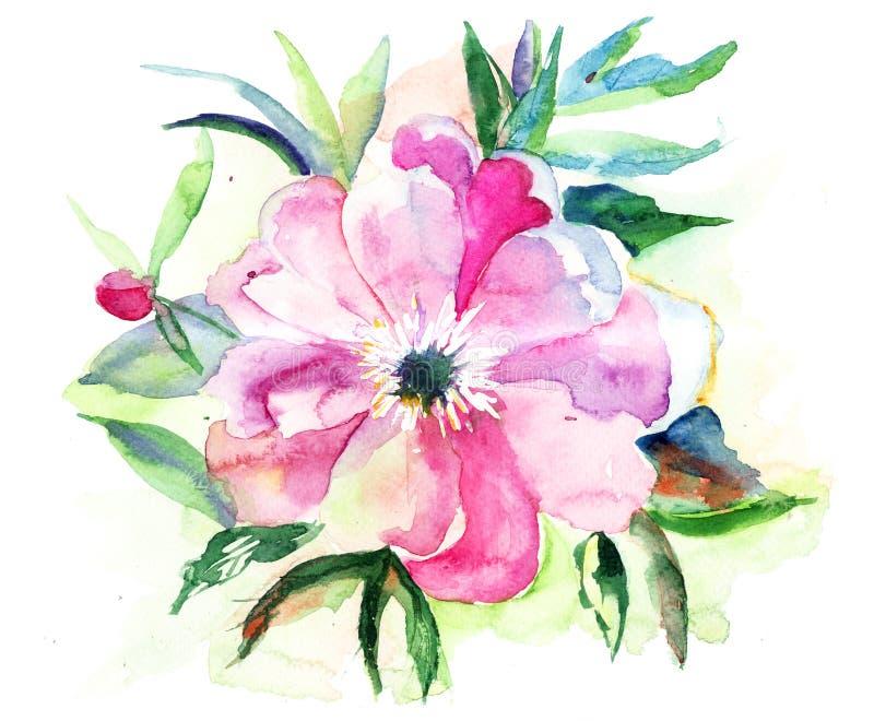 Fleur rose stylisée illustration stock