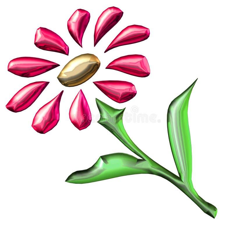 Download Fleur rouge illustration stock. Illustration du frais, coupure - 733121