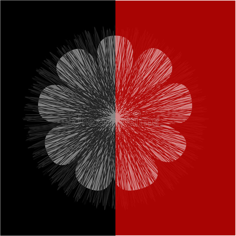 Fleur rouge illustration de vecteur