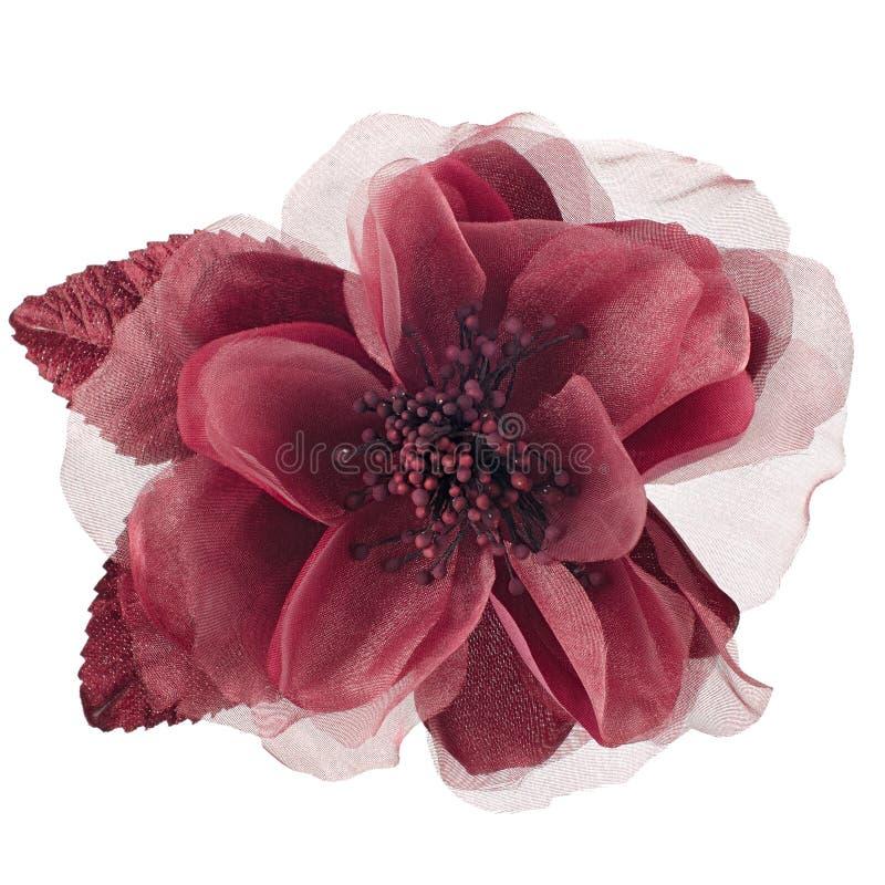 Fleur rouge de tissu photos stock