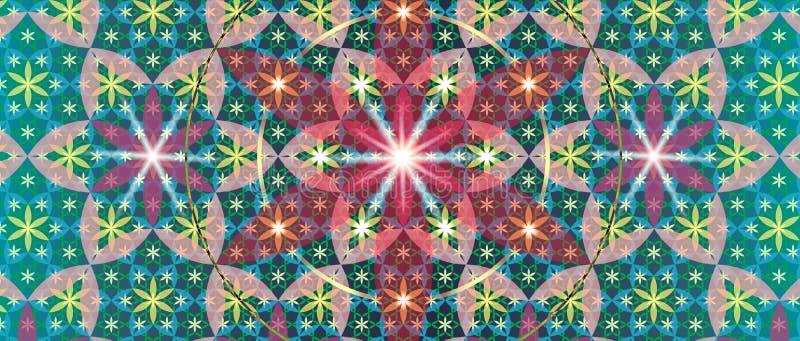 Fleur sacrée III de la géométrie illustration libre de droits